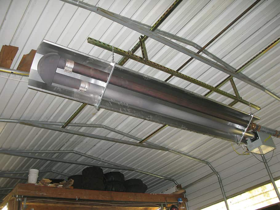 Gas Piping Portland Oregon, large radiant heater for Shop application