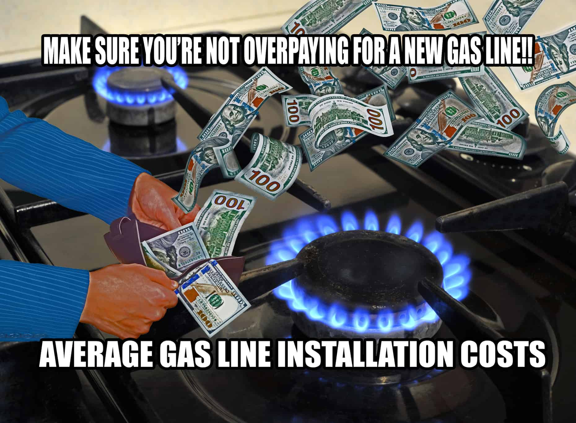 Average costs to have a new gas line installed