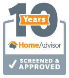 J&M Services Home Advisor 10 Years Approved Badge