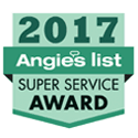 A badge that celebrates J&M Services as a Super Service Award Winner for 2017