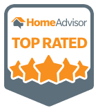 A badge that certifies J&M Services is a Top Rated Contractor