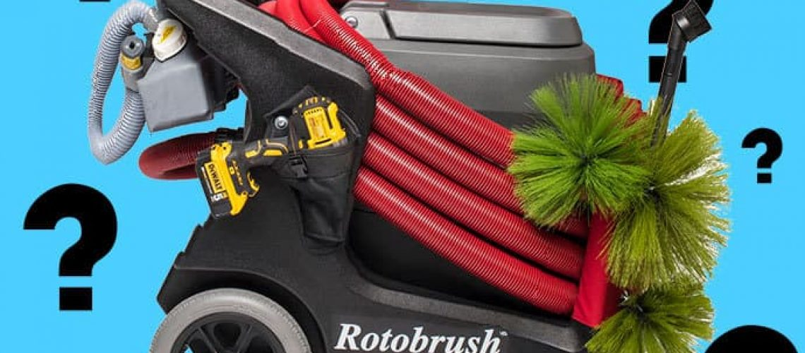 Rotobrush Portable Air Duct Cleaning Machines